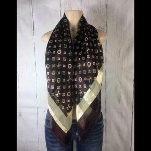 Louis Vuitton bandana scarf 100% silver